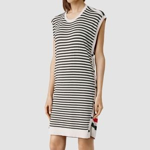 All Saints Black Alna Striped Dress